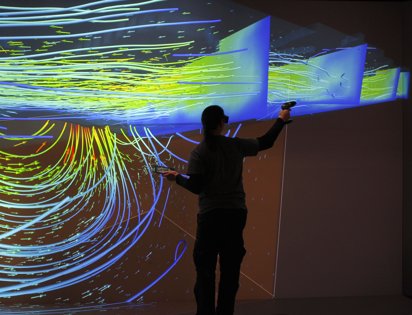 Interactive exploration of river flow phenomenae at the TESSIN VISLab of the Helmholtz Centre for Environmental Research – UFZ